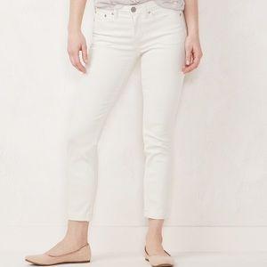 LC Lauren Conrad Jeans - LC Lauren Conrad White Skinny Crop Denim Jeans